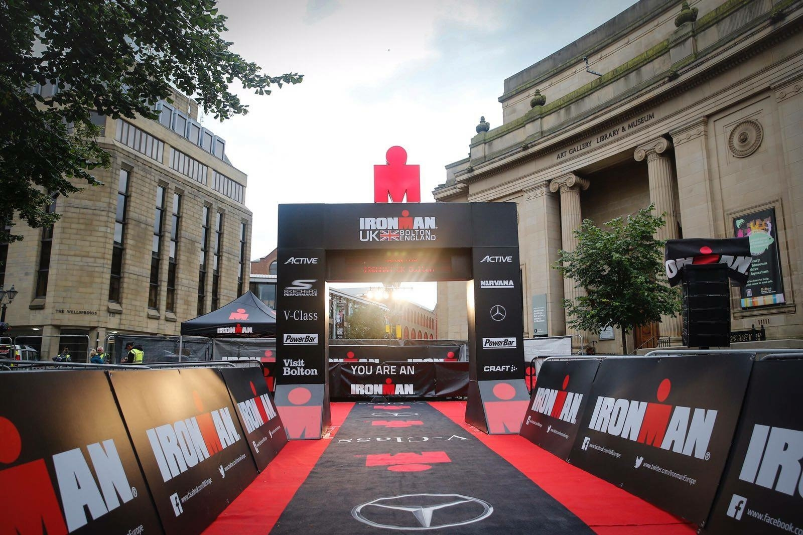 "Photo"" Source: Ironman Bolton Facebook Page: Ironman Bolton 2017 finish line photo"